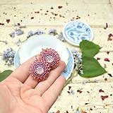 Náušnice - Sparkly earrings n.3  - vyšívané náušnice - 9492352_