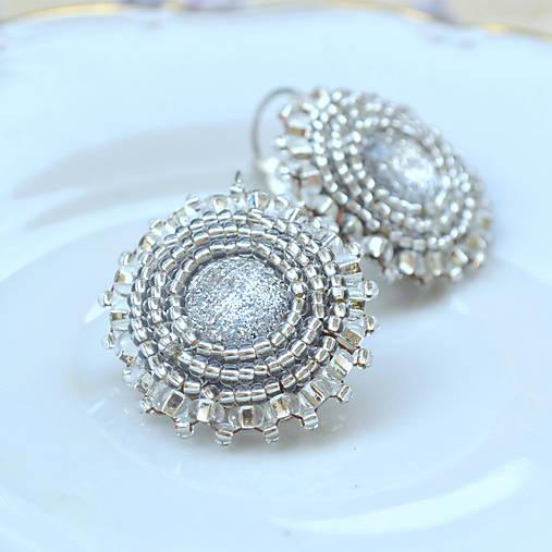 Sparkly earrings n.2  - vyšívané náušnice