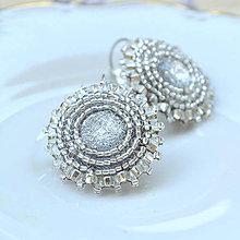 Náušnice - Sparkly earrings n.2  - vyšívané náušnice - 9492332_