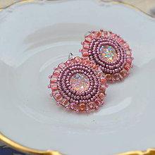 Náušnice - Sparkly earrings n.3  - vyšívané náušnice - 9492349_