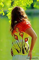 Tričká - Dámske tričko batikované, maľované KVITNUTIE - 9492136_