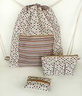 Batohy - Sada srdiečkový batoh + taštička + puzdro - 9493569_