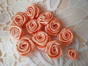Kytice pre nevestu - Saténové ružičky priemer 2,5cm - 9492157_
