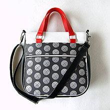 Veľké tašky - Big Sandy - Čierna s kruhmi - 9492940_