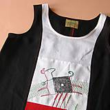 Šaty - SKÁKAL PES PŘES OVES - lněné šaty s výšivkou - 9494086_