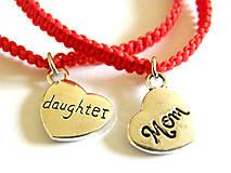 Náramky - den matiek - mama & dcera - srdcia - 9494646_