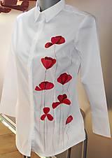 Košele - Makové blúznenie - košeľa s makmi - 9493987_
