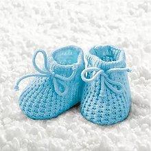 Papier - modré papučky - 9492556_
