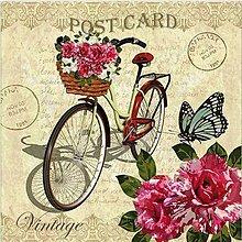 Papier - bicykel s kvetmi - 9492921_