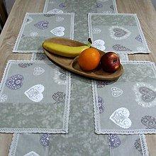 Úžitkový textil - Romantické srdiečka s mramorom - prestieranie 25x35 - 9494204_