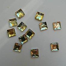 Iný materiál - Našívacie kamienky štvorce svetložlté 8x8mm - 9494056_