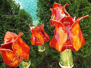 Socha - Keramické tulipány (Oranžová) - 9493636_