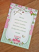 Papiernictvo - pozvanie na oslavu narodenín - dievčatko - 9493708_