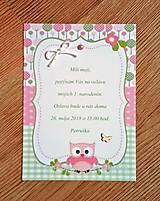 Papiernictvo - pozvanie na oslavu narodenín - dievčatko - 9493709_