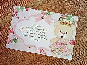 Papiernictvo - pozvánka na oslavu narodenín - dievčatko - 9493713_