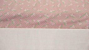 Textil - Ružičky na staroružovej š.150cm - 9492983_