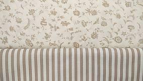 Textil - Béžové kvietky na maslovej š.150cm - 9492992_