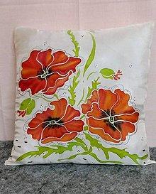Úžitkový textil - Hodvábny vankúšik Maky - 9496232_