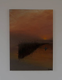 Obrazy - Obraz - Labuť na jazere - Reprodukcia - 9495265_