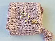 Textil - Detská deka BAVLNA: púdrová - 9497344_