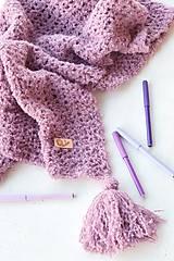 Textil - Detská deka ALPAKA: staroružová - 9497385_