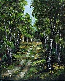 Obrazy - Jar v lese - olejomaľba - 9496197_