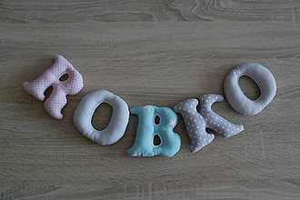 Detské doplnky - Písmenka - meno Robko - 9496783_