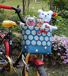 Iné tašky - Košík / taška na bicykel - BikeBag Bodkovaná hviezda - 9496963_