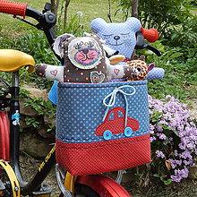 Detské tašky - Košík / taška na bicykel - BikeBag Hviezdne autíčko - 9496971_
