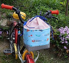 Detské tašky - Košík / taška na bicykel - BikeBag malého námorníka na zaťahovanie - 9496983_
