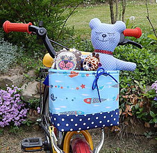 Textil - Košík / taška na bicykel - BikeBag pre malého námorníka :) - 9496994_