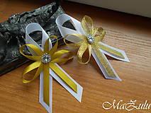 Pierka - svadobné pierko pre rodičov v zlatom - 9497069_