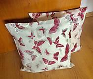 Úžitkový textil - vankúšik motýle - 9497156_