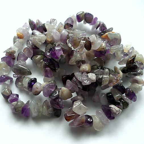 Minerály-zlomky-návlek (Ametyst-cca 85cm)