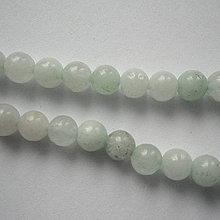 Minerály - Jadeit 6mm-priehľ-1ks (ľadová) - 9498338_