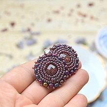 Náušnice - Sparkly earrings n.4  - vyšívané náušnice - 9495760_