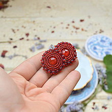 Náušnice - Sparkly earrings n.5  - vyšívané náušnice - 9495801_