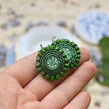 Náušnice - Sparkly earrings n.6- vyšívané náušnice - 9495815_