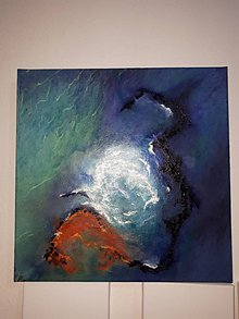 Obrazy - Modrá lagúna - 9498218_