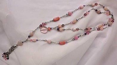 Sady šperkov - Boho Chic - ružovo-fialová sada - 9498810_