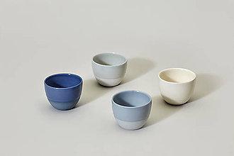Nádoby - Něžný set espresso šálků (Kobaltová modrá) - 9498329_