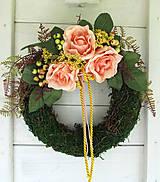 Dekorácie - romantický veniec - 9496804_