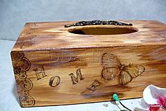 Krabičky - drevený stojan na vreckovky Natur - 9498273_