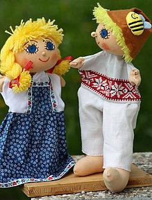 Hračky - Maňuška. Bábiky - maňušky Katky a pastierika Ferka Ľudovo a po slovensky. - 9497870_