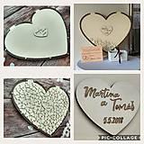 Srdce z plexi - svadobná kniha hostí