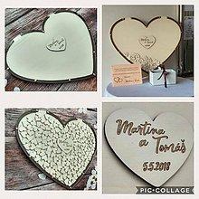 Dekorácie - Srdce z plexi - svadobná kniha hostí - 9497185_