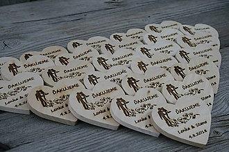 Darčeky pre svadobčanov - magnetka drevená-svadobná1 - 9495405_