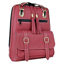 Batohy - Praktický módny ruksak z prírodnej kože v bordovej farbe - 9497558_