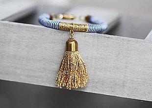 Náramky - Strapcový náramok - Blue Sailor - 9496792_