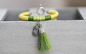 Náramky - Strapcový náramok - Pineapple - 9497409_